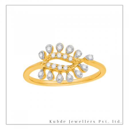 Diamond paisley ring-Kubde Jewellers