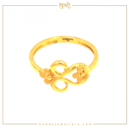 22 k gold floral ring-Kubde Jewellers